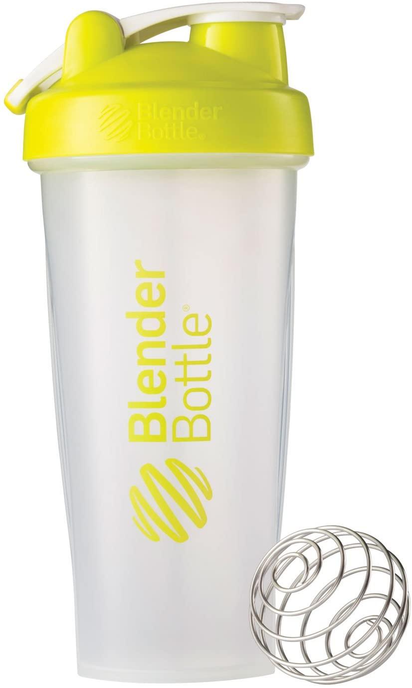 BlenderBottle Classic Loop Top Shaker Bottle, 28-Ounce, Clear/Green