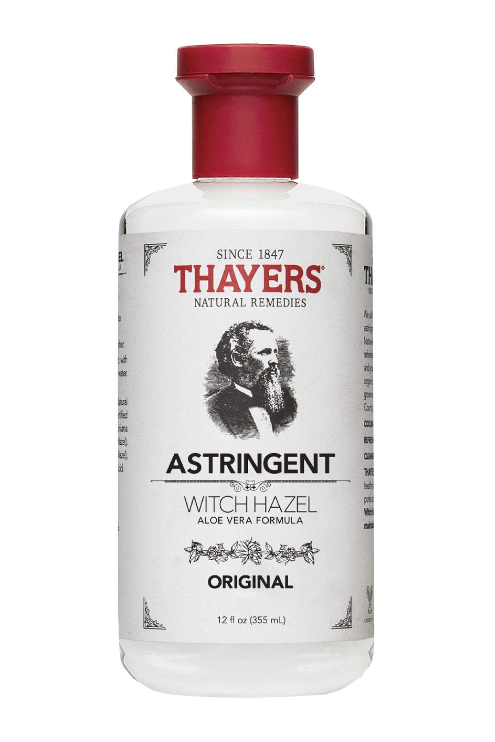 Thayers Witch Hazel with Aloe Vera, Original Astringent 12 oz (Pack of 3)