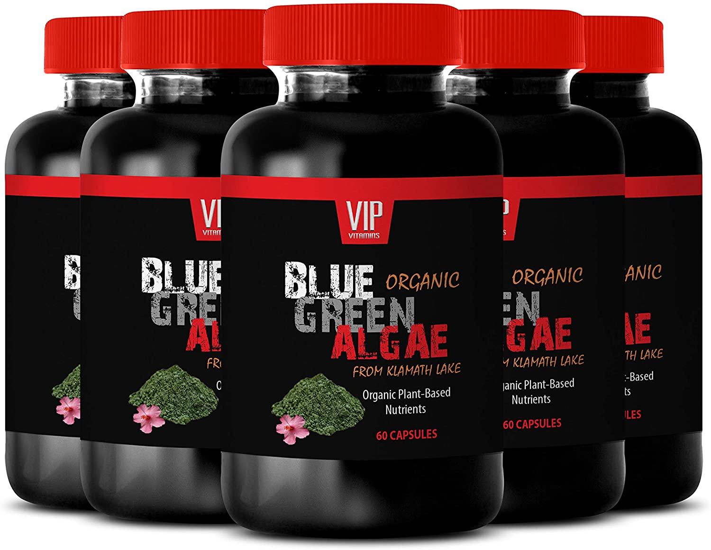 Organic Blood Pressure Support - Organic Blue Green Algae - 500 MG - antiinflamatory Supplements Organic - 5B (300 Capsules)