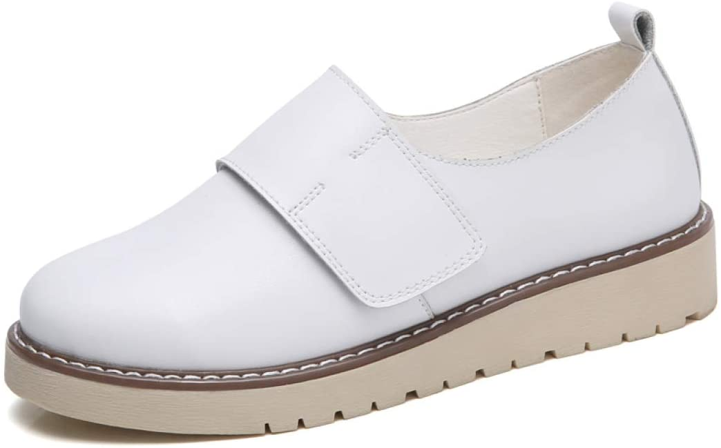 StarttWin Women Platform Hoop &Loop Flats Shoes Summer Non Slip Low Heel Comfortable Casual Loafers Shoes