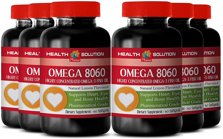 Omega epa - Omega 8060 Omega-3 Fatty ACIDS - Increase Muscle Strength (6 Bottles)