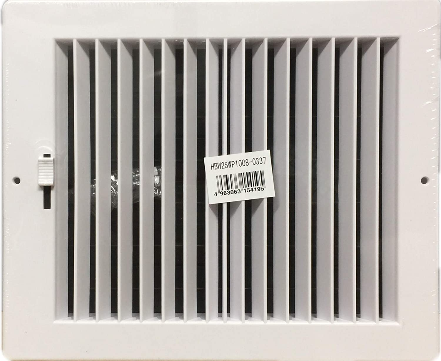 HBW Two-Way Plastic Side Wall/Ceiling Register in White 10