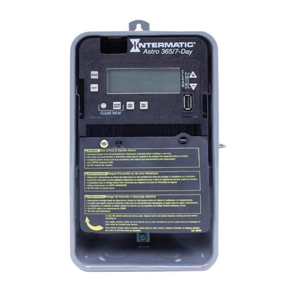 Intermatic Electronic Timer, 30 Amps, 120 to 277Vac Voltage, Operation Mode: Astro 7/365 Days, Number of Channe
