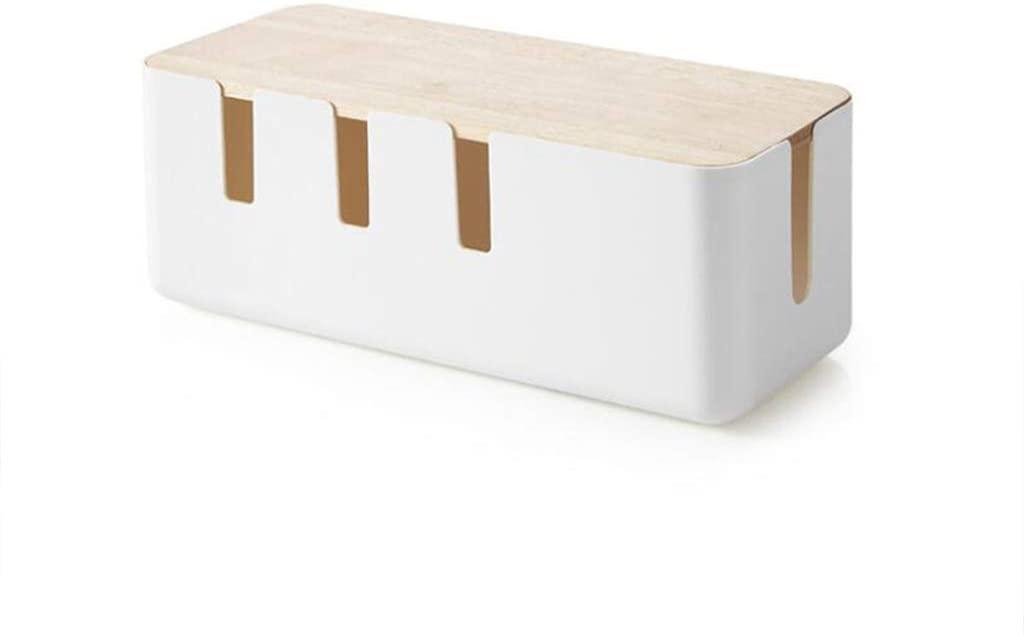 YOUSIKE Portable Power Strip, Anti Dust Charger Socket, Wire Case, Cable Organizer, Desktop Line Storage Bin Box