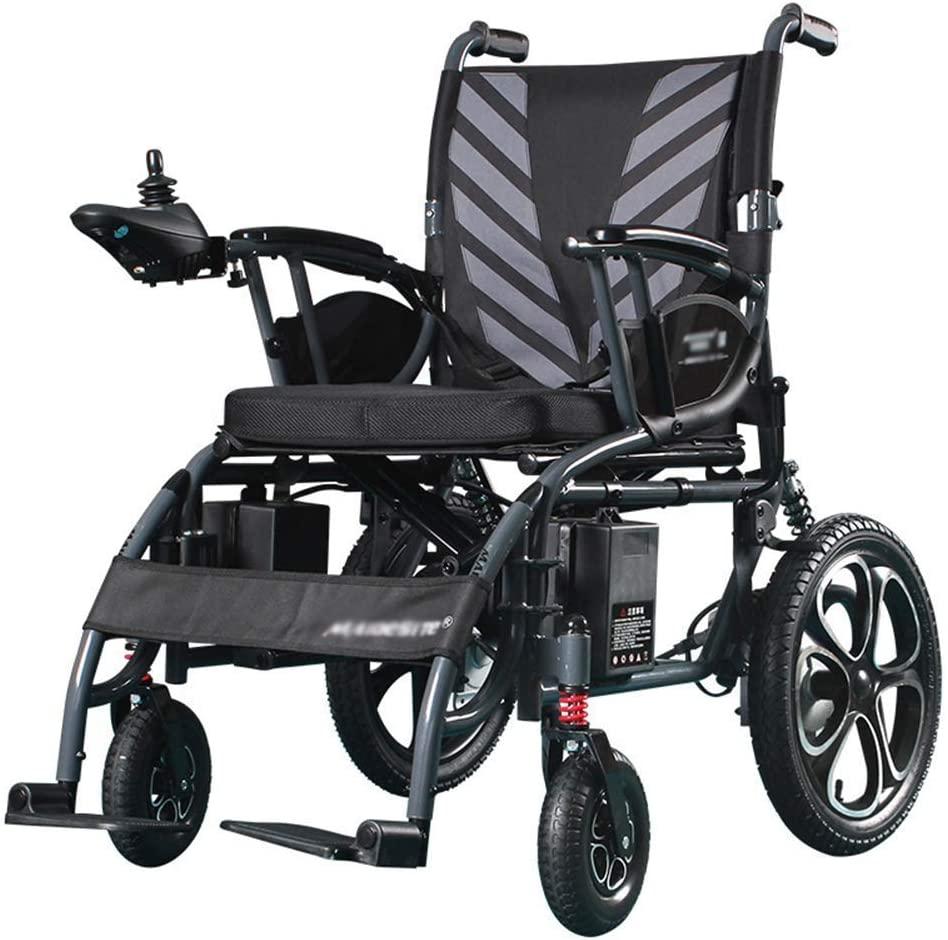 wheelchair Medical Rehab Chair, Wheelchair,Heavy Duty Electric Wheelchair, Foldable and Lightweight Powered Wheelchair, 360° Joystick, Weight Capacity 100Kg