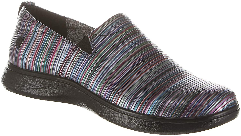 Klogs Footwear Women's Leena Medium Blurred LINE/Black OS Size