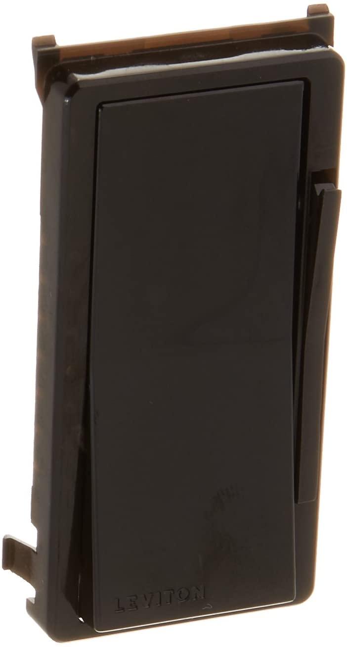 Leviton DDKIT-00E Decora Smart and Decora Digital Dimmer Face Plate Color Change Kit, Black
