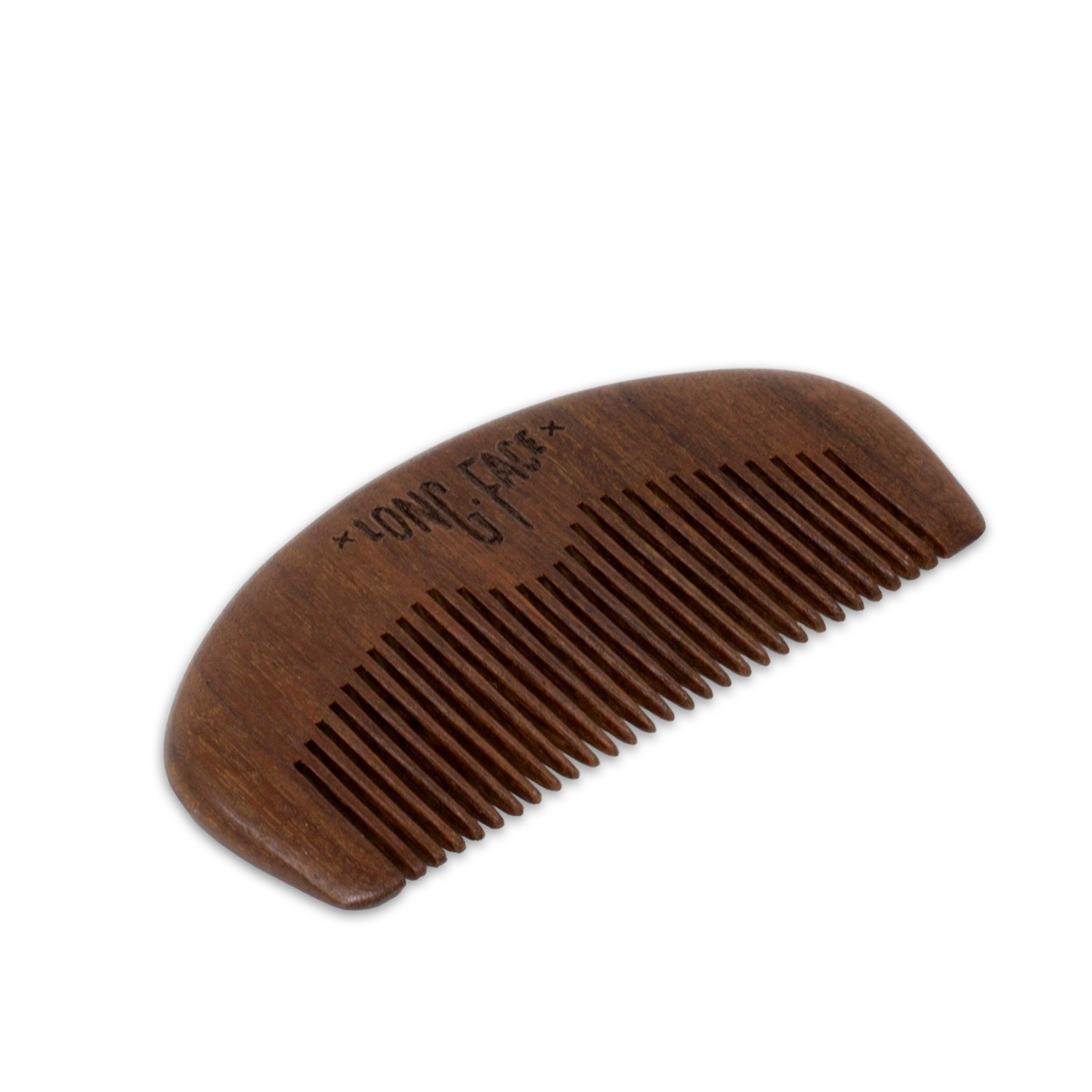 Long Face Gentleman Beard and Mustache Wood Comb, Perfect for Balms and Oils, Anti-Static, Pocket Size for all types of Beards.