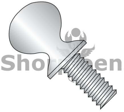 8-32X3/8 Thumb Screw with Shoulder Full Thread 18-8 Stainless Steel - Box Quantity 3000 by Shorpioen BC-0806TS188