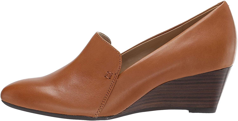 Aerosoles - Women's Full Circle Heel - Leather Round Toe Dress Pump with Memory Foam Footbed