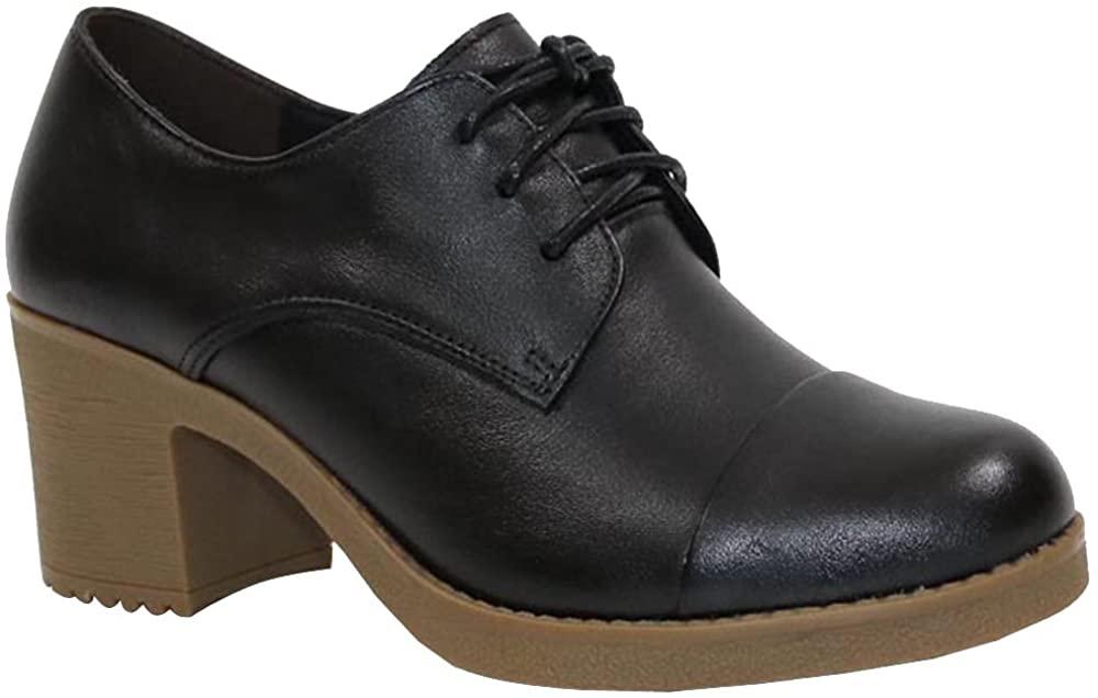 KEERYGO High Heel Single Shoe Leather Shoes Women's Shoes