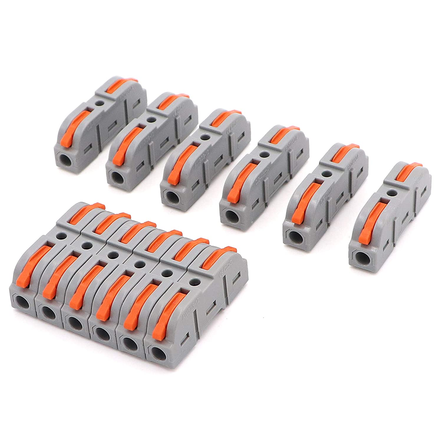 25pcs Wire Conductor Connectors - DIY Splicing into 2/3/4/5/6 Way Butt Cable Terminal for 28-12 AWG