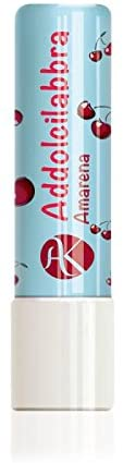 ALKEMILLA Addolcilabbra Cherry - Lip Balm Cherry Flavored - with Hazelnuts Oil and Sunflower Oil- Soothes & moisturises- Biological - Made in Italy