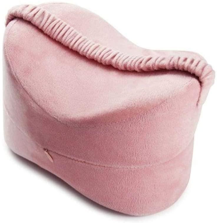 HEEGNPD Leg Positioner Pillows Memory Foam Pregnant Woman Leg Pillows Cushion Pressure Relief Sleep Aid Maternity Shaping Pillow,Pink,25.5x18x18 cm