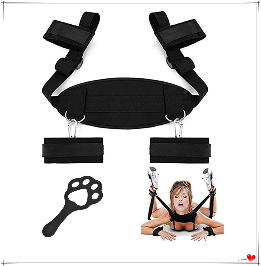 sensensen Adjustable Straps-Premium Bed Strap Set for Bedroom Games (Black)