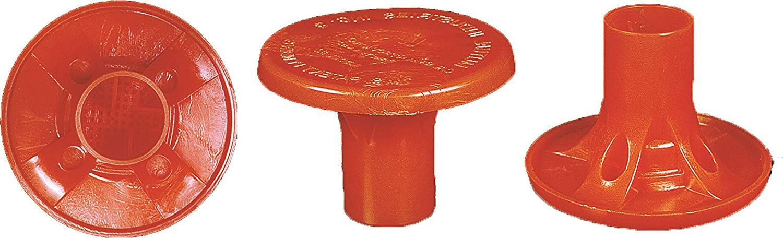 Mutual Industries 14640-25-4 OSHA Rebar Cap (Pack of 25), 700 Pounds Capacity, Volume, Plastic Polymer, Orange (Pack of 25)