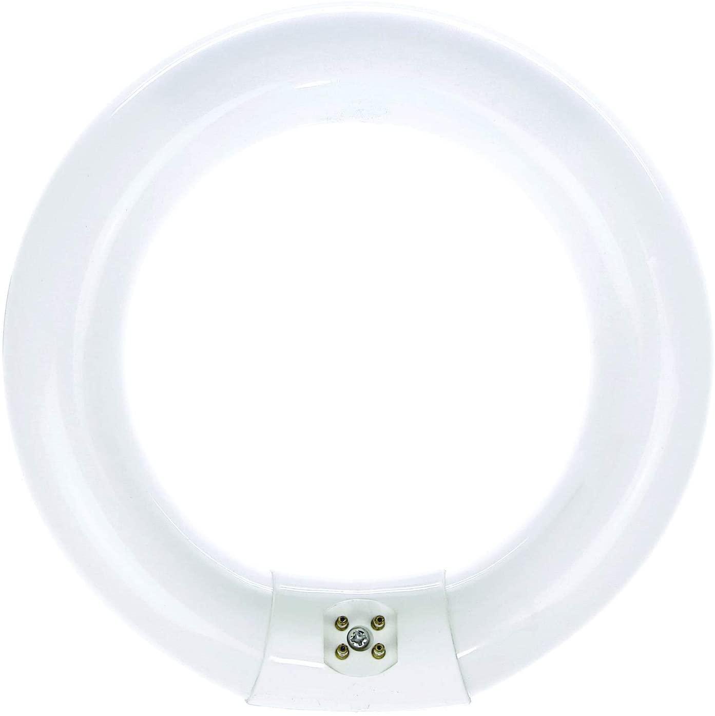 Luxrite LR20570 FC8T9/CW 22-Watt 8 Inch T9 Fluorescent Circular Light Bulb, Cool White 4100K, 1180 Lumens, G10Q 4-Pin Base