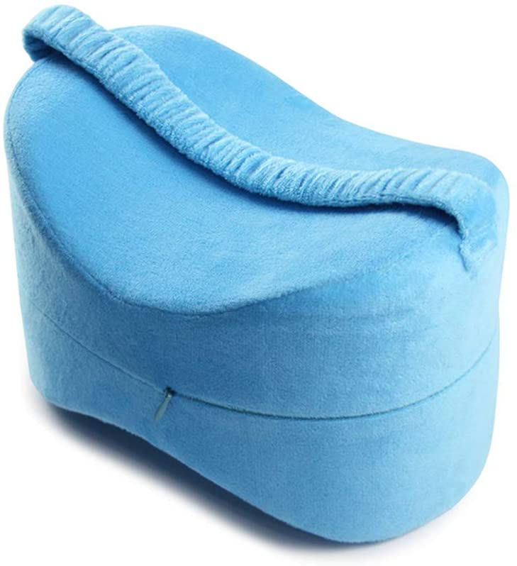 LYAID Knee Pillow, Leg Positioner Pillows Right Spine Alignment, with Washable Cover for Sciatica Back Hip Joint Knee Pain Relief,E