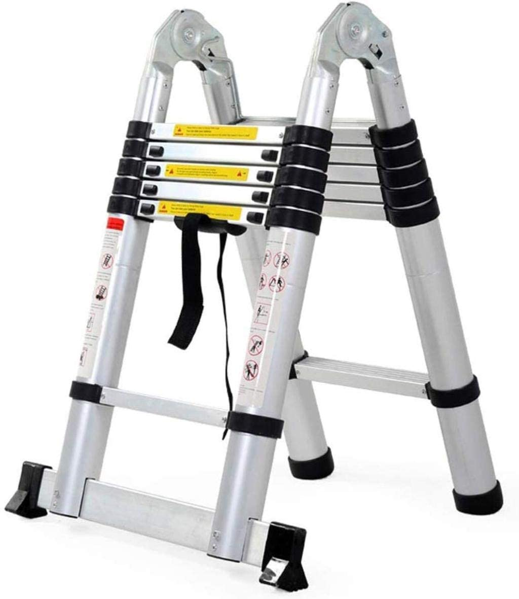 LADDERS 1.6+1.6M Folding Ladder Telescopic for Home and Kitchen Multi Purpose Portable Lightweight Extension Ladder Alu