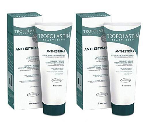 2 Tubes TROFOLASTIN Anti-Stretch marks 250ml 8.45 floz. 500ml Total Skin Treatment