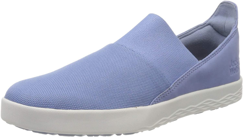 Jack Wolfskin Womens Loafers, Blue Light Blue White 1585, 8 US
