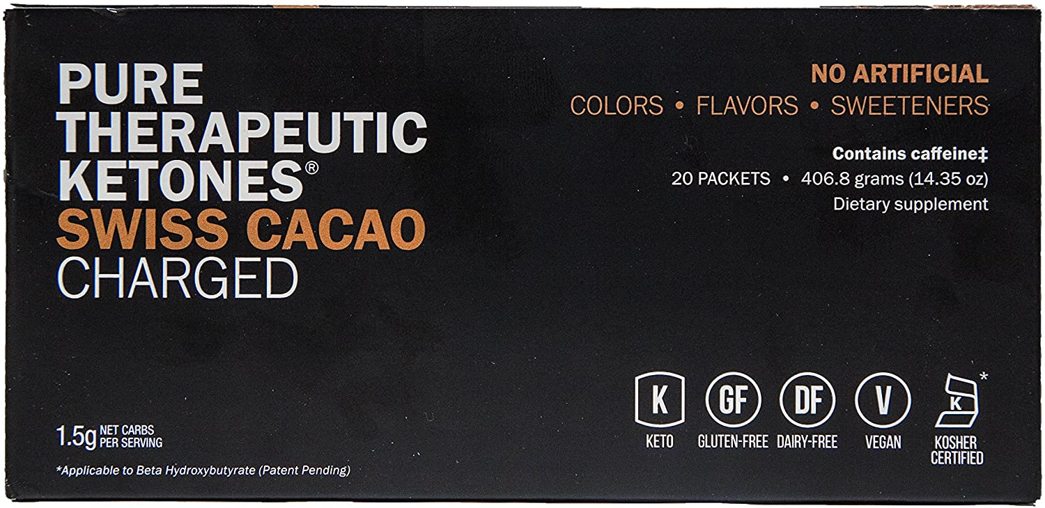 Keto//OS MAX Swiss Cacao Charged, BHB Salts Ketogenic Supplement Beta Hydroxybutyrates Exogenous Ketones for Fat Loss, Workout Energy Boost and Weight Management Through Fast Ketosis, 20 Sachets