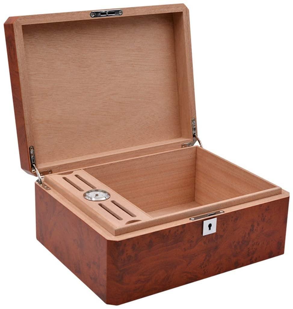 ZXY-NAN humidor Cigar Humidor, Desktop Cedar Lined Storage Box with Hygrometer Portable humidor