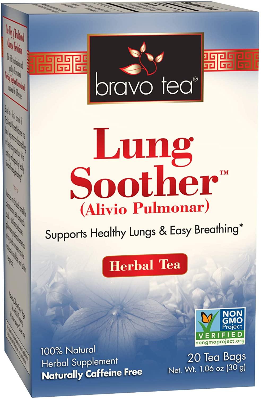 Bravo Tea, Lung Soother Herbal Tea, Caffeine Free, 20 Tea Bags