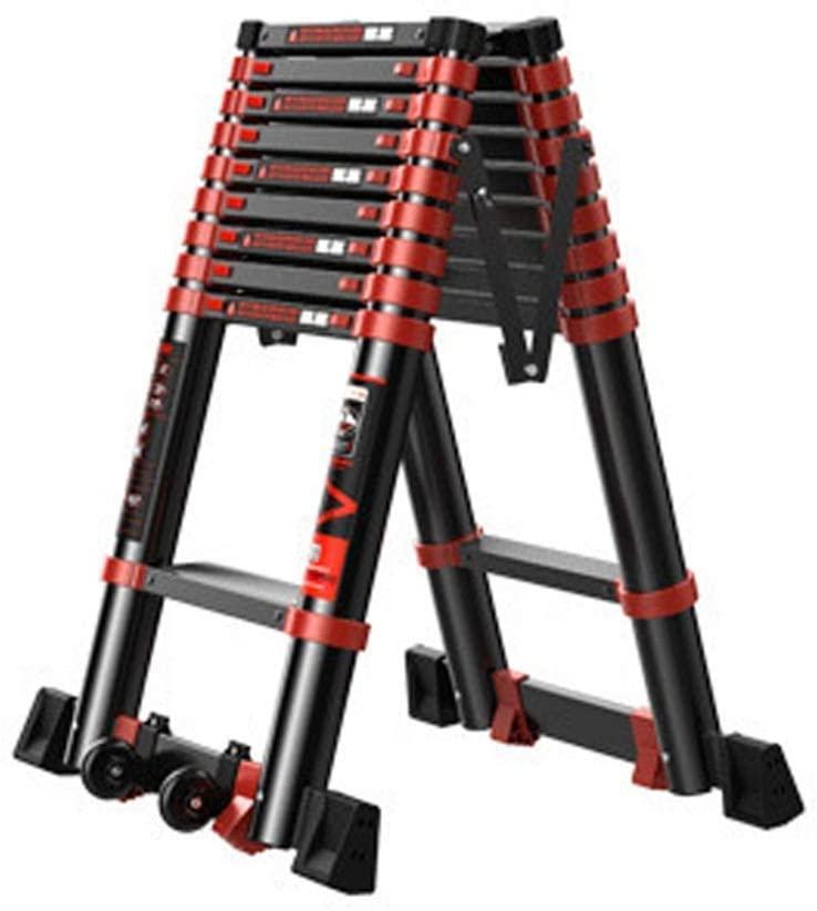 LADDERS Ladders Multi-Purpose Telescopic Luminium Durable Luminium Telescopic Extension Portable Multi-Purpose Extendable s for Outdoor Indoor Builder (Color :, Size : 2.7M)