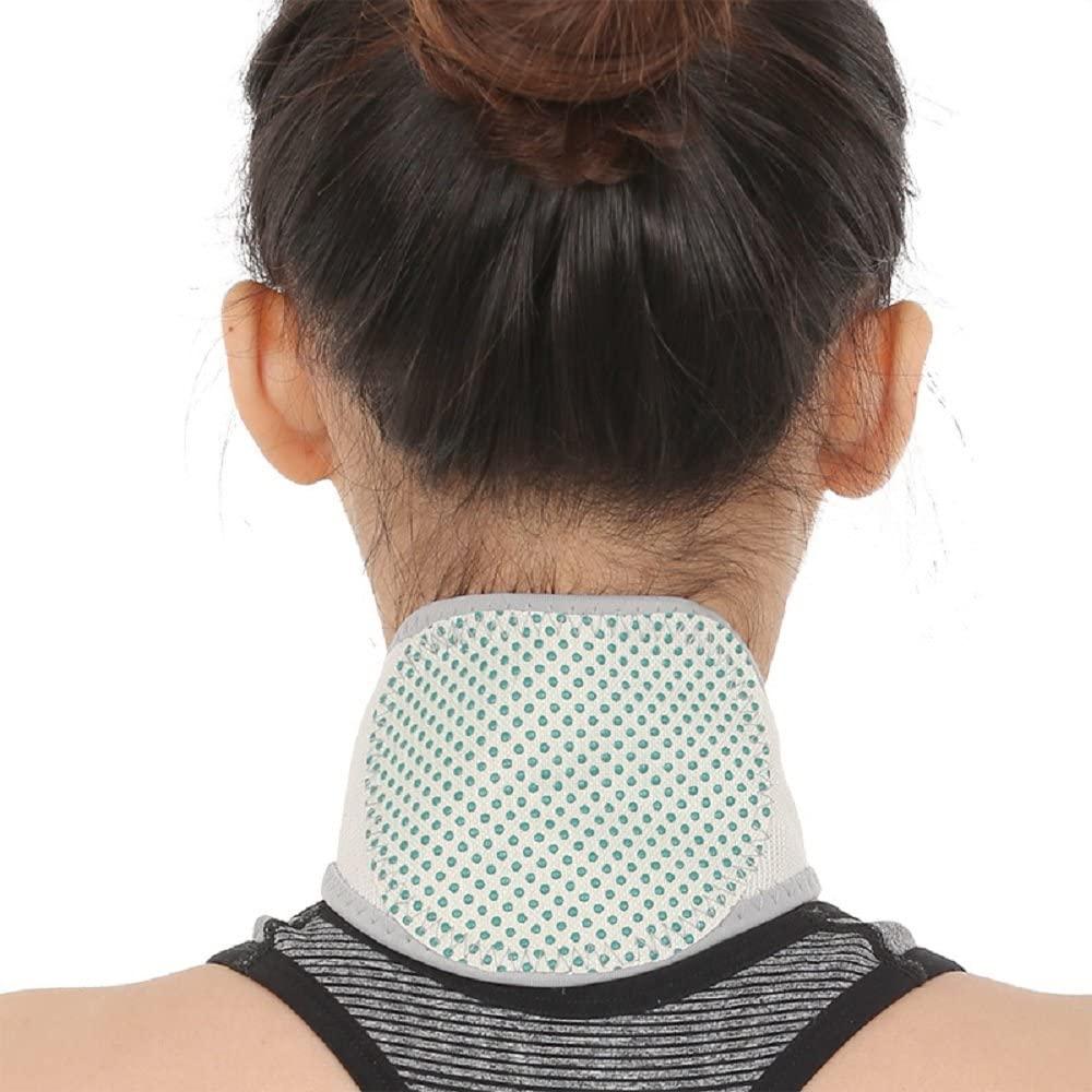 U.Buy Unisex Tourmaline Neck Brace for Men & Women | Self Heating Neck Brace, Magnetic Cervical Collar | Relieve Chronic Pains & Stiffness & Support Neck (Gray)