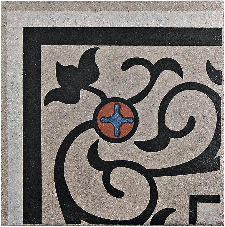 SomerTile FNU7CQAE Zementu Quatro and Porcelain Floor and Wall Corner Tile, 7