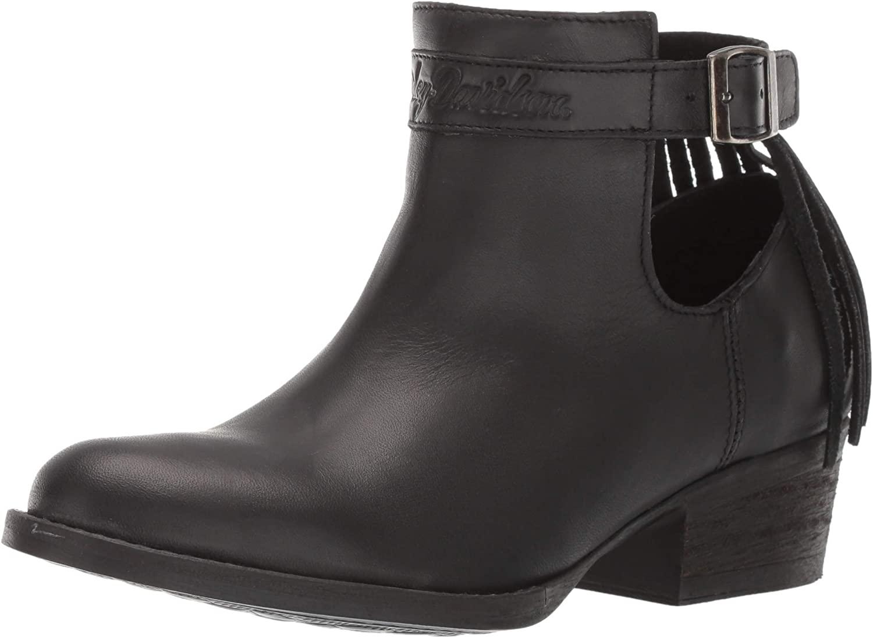 HARLEY-DAVIDSON FOOTWEAR Women's Amory Boot, Black, 07.0 M US
