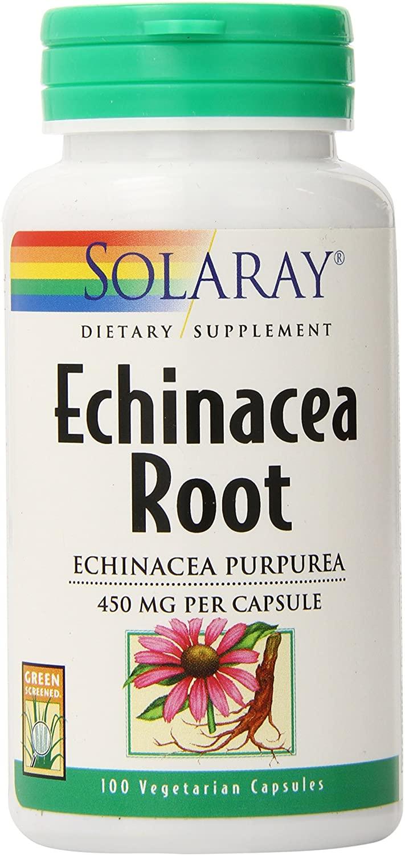 Solaray Echinacea Purpurea Root, Veg Cap (Btl-Plastic) 440mg | 100ct