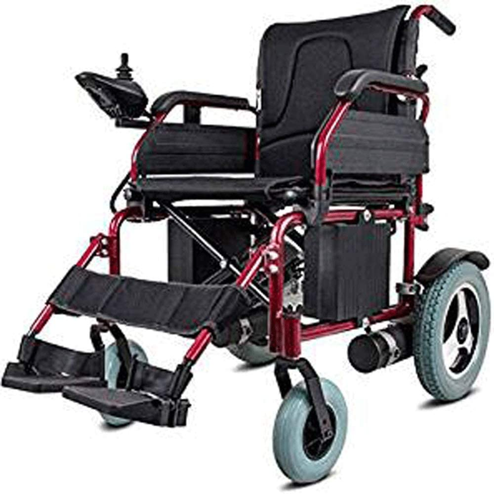 HWZLOIK Wheelchair, Scooter, Aluminum Folding, Inflatable, Electric Wheelchair, Disabled, Easy to Store and Transport, Size: 94 116 64cm