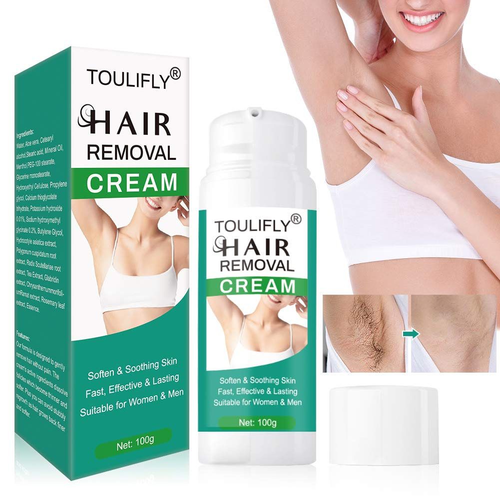Hair Removal Cream, Depilatory Cream,Hair Inhibitor, Painless Hair Removal Cream for for Sensitive Skin, Underarm, Leg, Bikini and Body,Hair Remover Body Cream for Women and Men