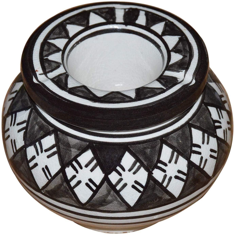 JTSYUXN Ceramic Ashtray with Lids Hand Made Moroccan smokeless Ceramic Vivid Colors Small