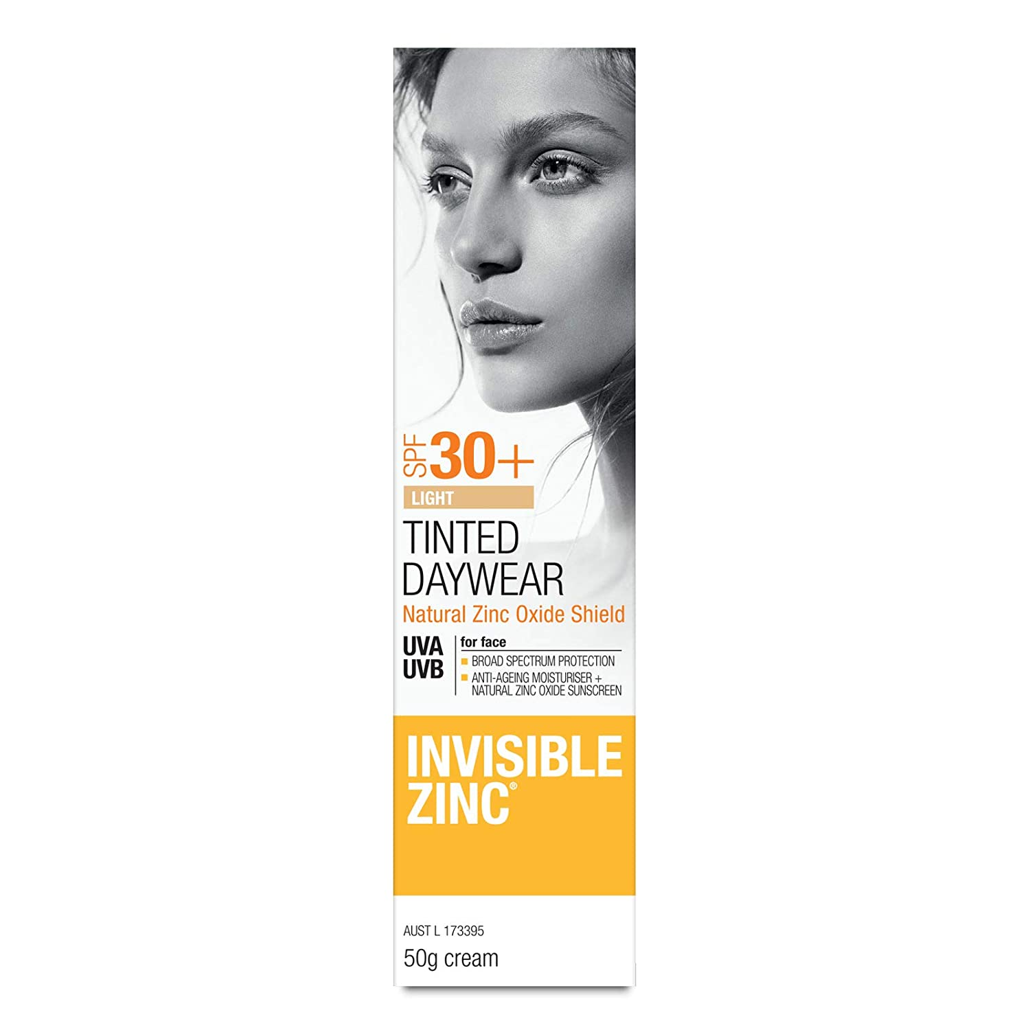 Invisible Zinc Light Tinted Daywear SPF 50+ - Daily Moisturizer With Sun Protection & Sheer Foundation To Nourish & Prevent Appearance Of Premature Aging Caused By Harmful UV Rays - 50g