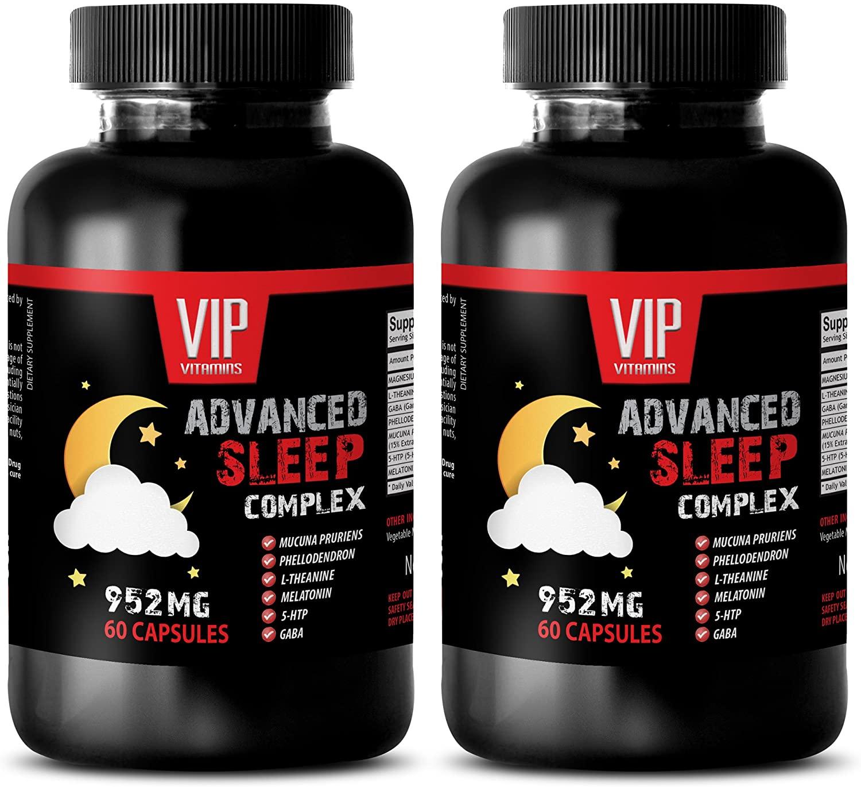 Sleeping aid Adults - Advanced Sleep Complex 952MG - 5-htp Mood - 2 Bottles (120 Capsules)