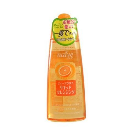 Kracie Naive Deep Clear Liquid Cleansing Orange Extract 170ml