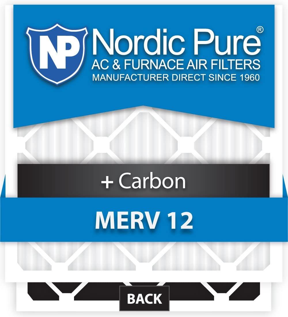 Nordic Pure 10x16x1CustomM12+C-12 MERV 12 + Carbon AC Furnace Filters, Piece
