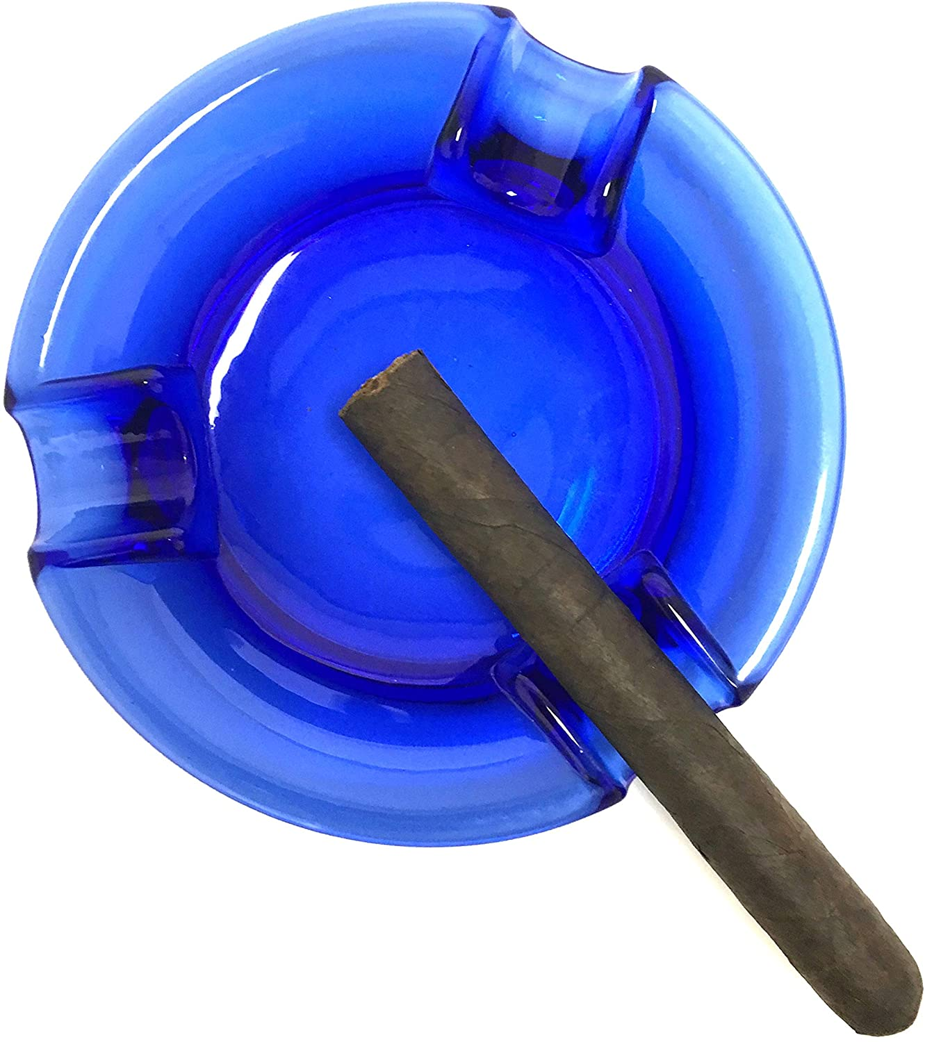FESS Products Trident Blue Cigar Ashtray Large 6.5