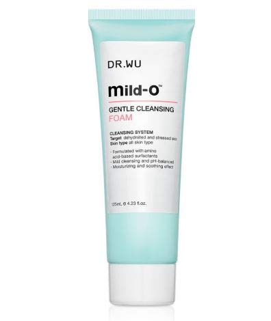DR. WU Mild-O Gentle Cleansing Foam 125ml -The creamy and creamy texture, gently rubbing to wash out the foam, in addition to deep cleansing pores