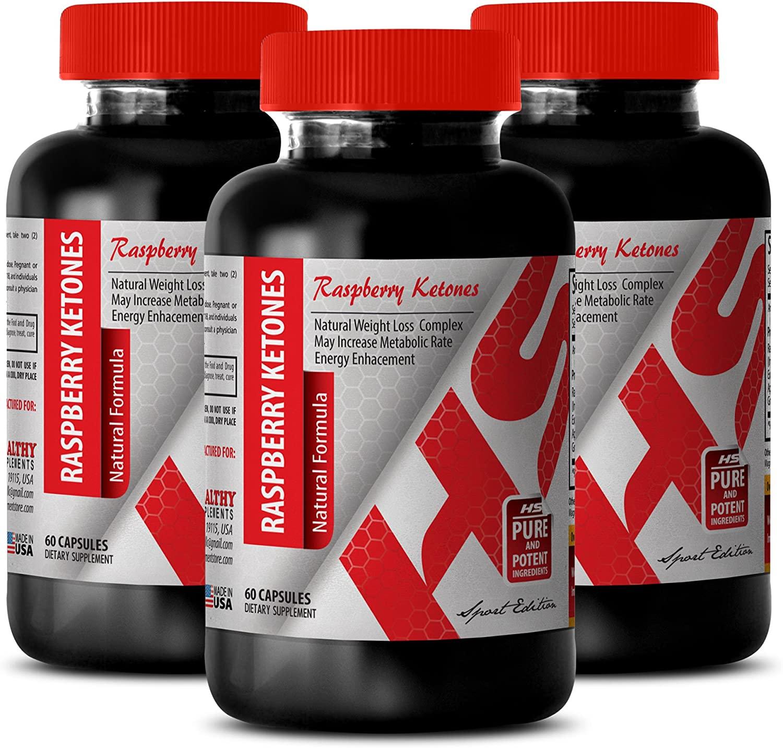 Raspberry Ketones Green Coffee Weight Loss - Raspberry Ketones Natural Formula 1200 MG - Control Appetite (3 Bottles)