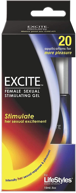 Lifestyles Excite Female Stimulating Gel 0.50 oz (Pack of 2)