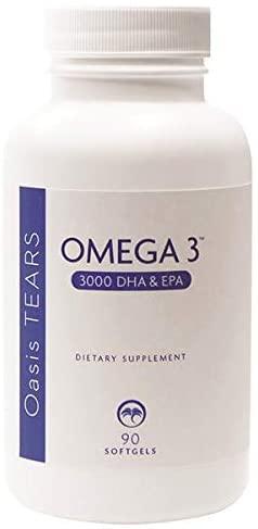 Oasis Tears Omega 3 Fish Oil 3000 DHA & EPA 90 Softgels