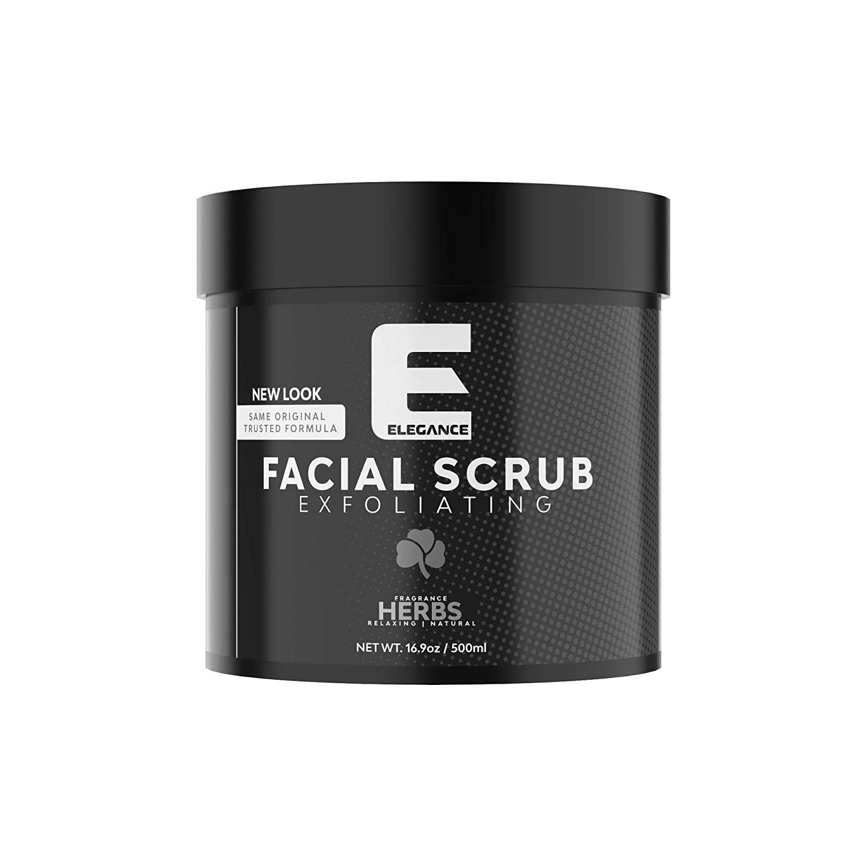 ELEGANCE GEL Elegance Facial Scrub, Mixed Herbs, 16.9 oz