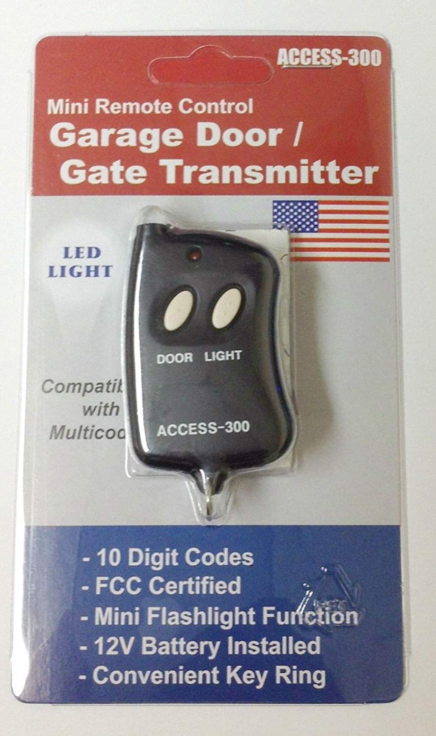 Access Mini 10 Digit Codes Dip Switch Remote Garage Gate Opener Transmitter 300 Frequency