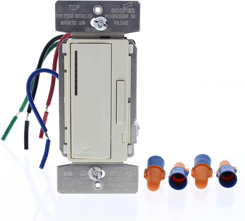 Cooper Wiring Devices AIM06-A Smart Dimmer, INC/MLV, 600W-120V, AL