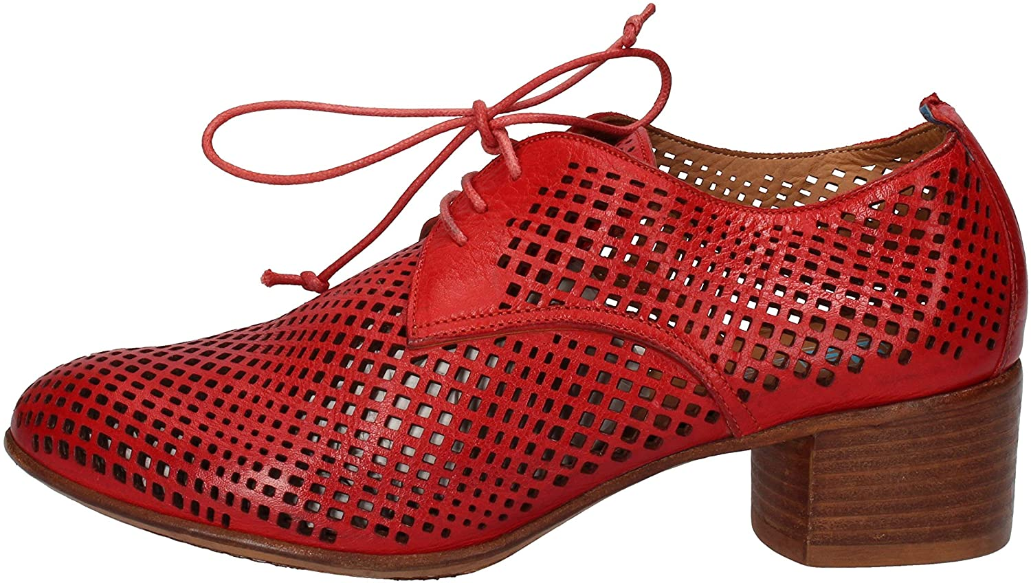 MOMA Oxfords-Shoes Womens Leather Red