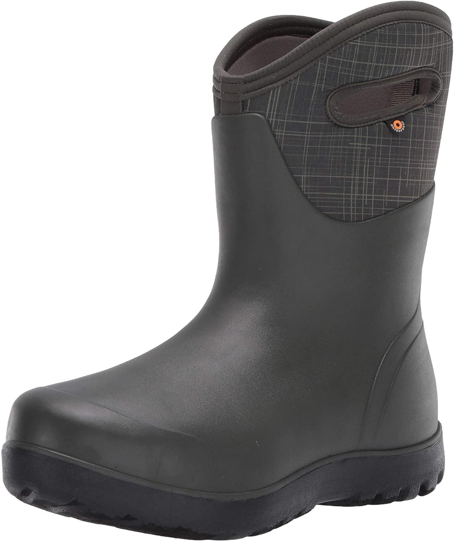 BOGS Womens Neo-Classic Mid Linen Waterproof Rain Boot